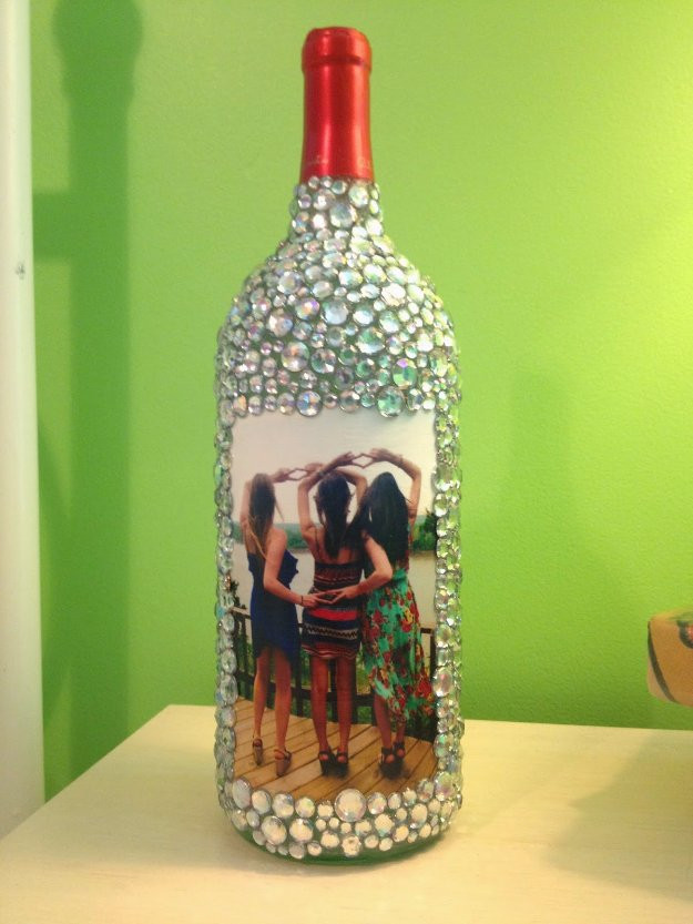 Best ideas about Glass Bottle Craft Ideas . Save or Pin 37 Amazing DIY Wine Bottle Crafts Page 6 of 8 DIY Joy Now.