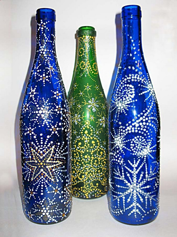 Best ideas about Glass Bottle Craft Ideas . Save or Pin Handmade christmas crafts 15 ways to recycle glass bottles Now.