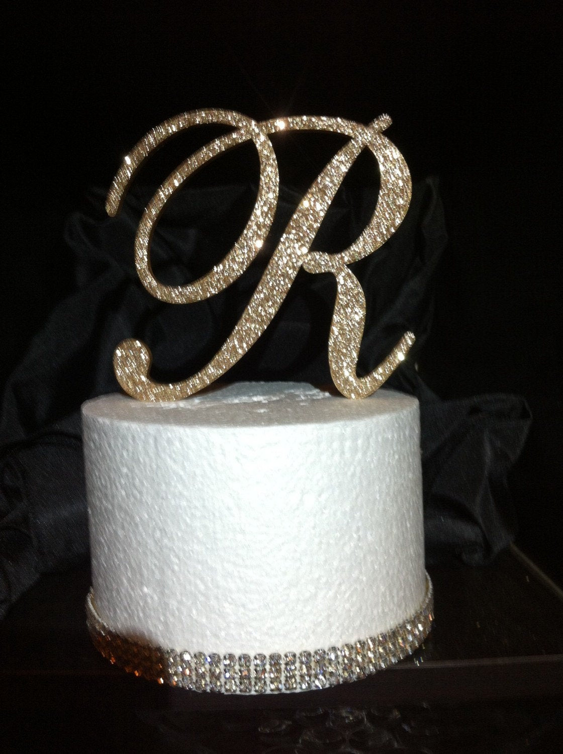 Best ideas about Glitter Birthday Cake . Save or Pin FREE Shipping in US Glitter Cake Topper Monogram Cake Now.