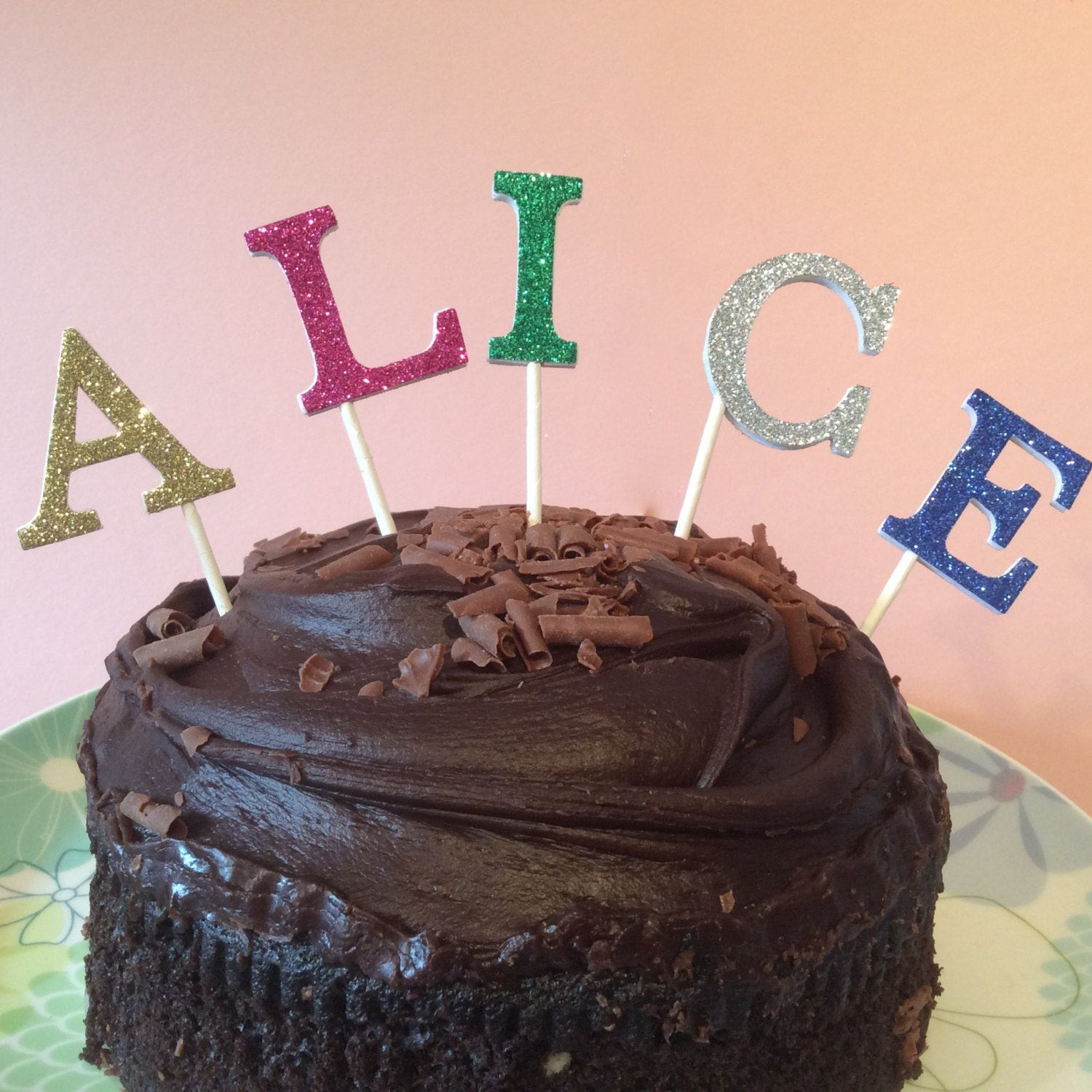 Best ideas about Glitter Birthday Cake . Save or Pin Glitter letters cake topper birthday cake topper wedding Now.