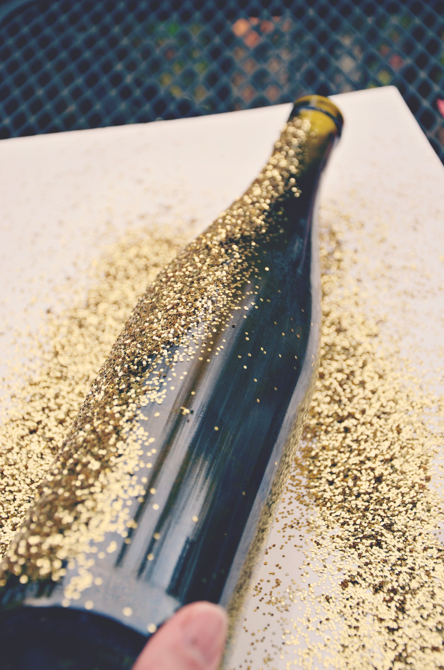 Best ideas about Glitter Wine Bottles DIY . Save or Pin Tutorial for DIY Glittered Wine Bottles Now.