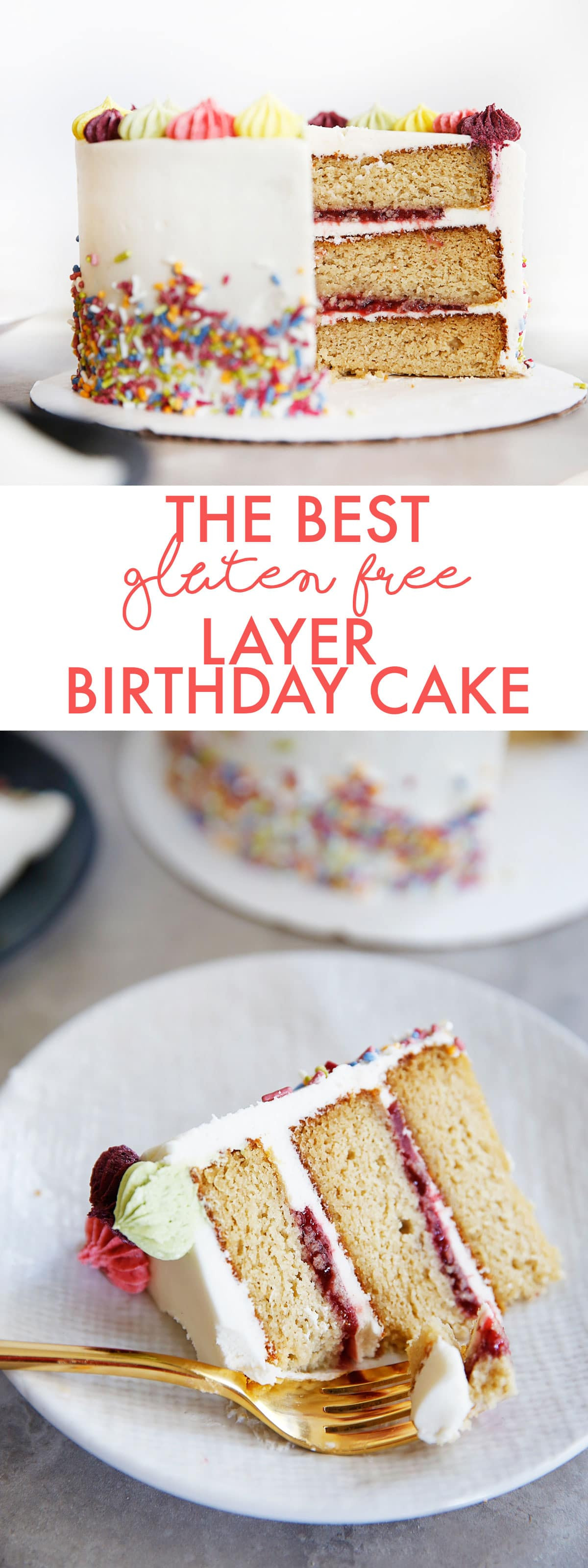 Best ideas about Gluten Free Birthday Cake . Save or Pin The BEST Gluten Free Layer Birthday Cake Lexi s Clean Now.