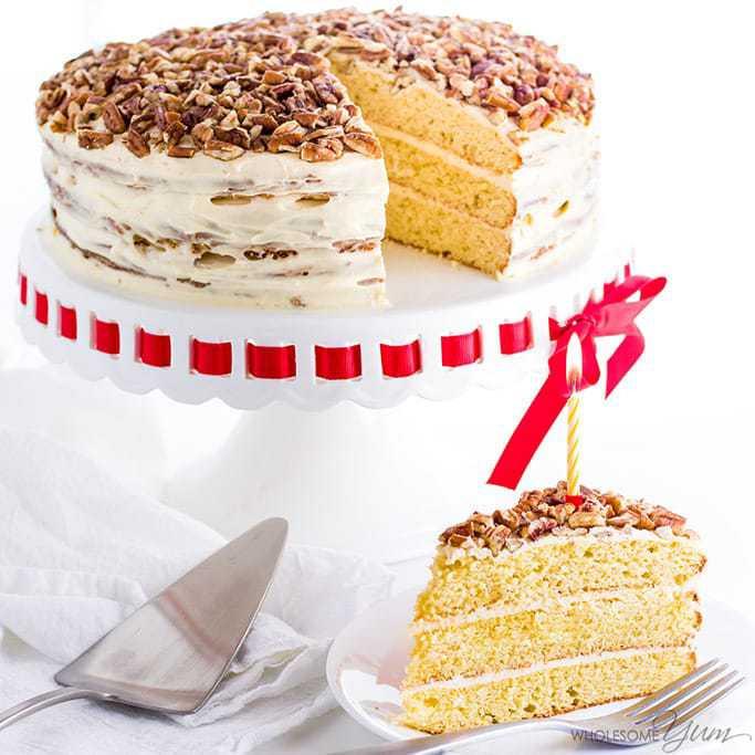 Best ideas about Gluten Free Birthday Cake . Save or Pin Vanilla Gluten Free Keto Birthday Cake Recipe Sugar Free Now.