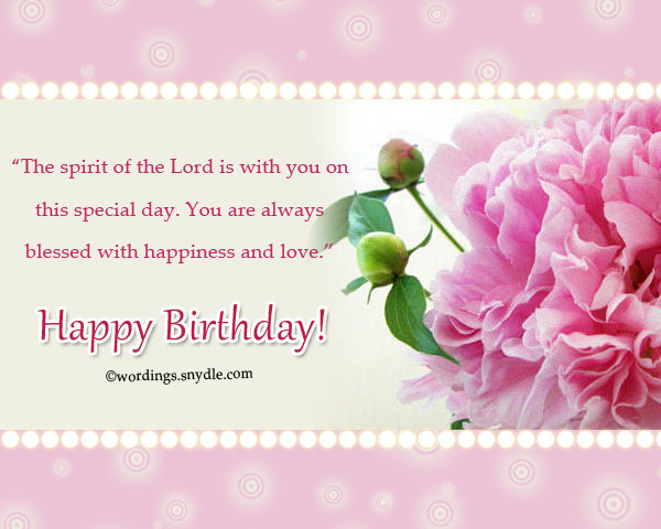 Best ideas about Godly Birthday Wishes . Save or Pin Christian Birthday Wordings and Messages Wordings and Now.