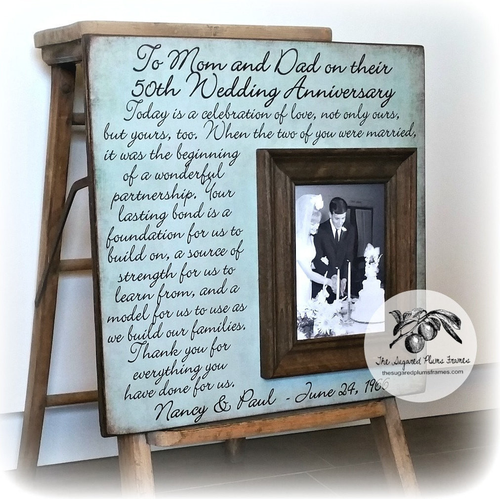 Best ideas about Golden Wedding Anniversary Gift Ideas For Parents . Save or Pin Parents 50th Anniversary Gifts Golden Anniversary Now.