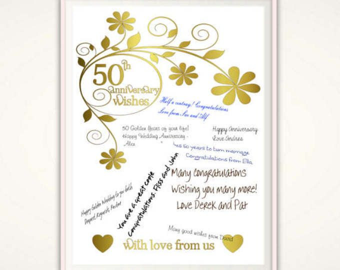 Best ideas about Golden Wedding Anniversary Gift Ideas For Parents . Save or Pin Best 25 Golden anniversary ts ideas on Pinterest Now.