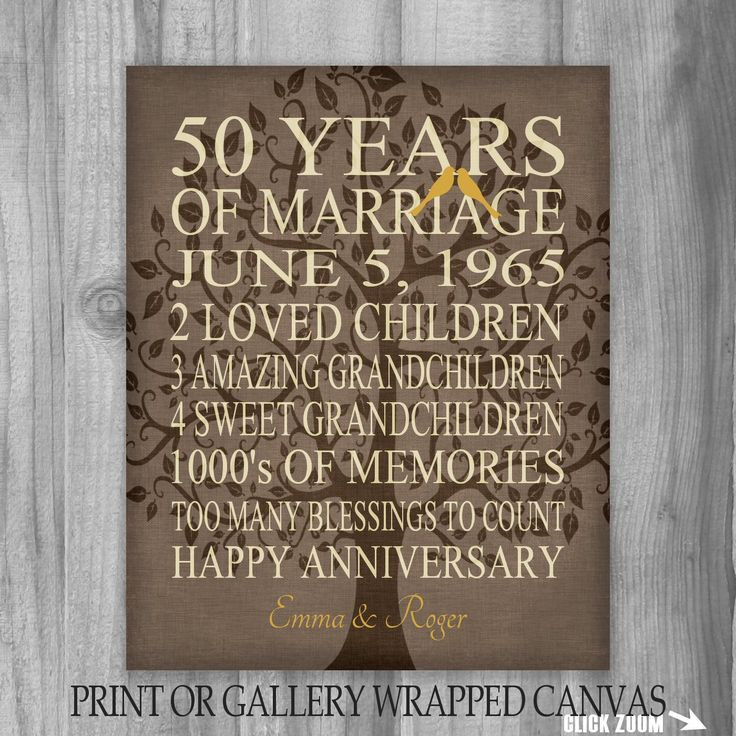 Best ideas about Golden Wedding Anniversary Gift Ideas For Parents . Save or Pin 80 best Anniversary Gift Ideas images on Pinterest Now.