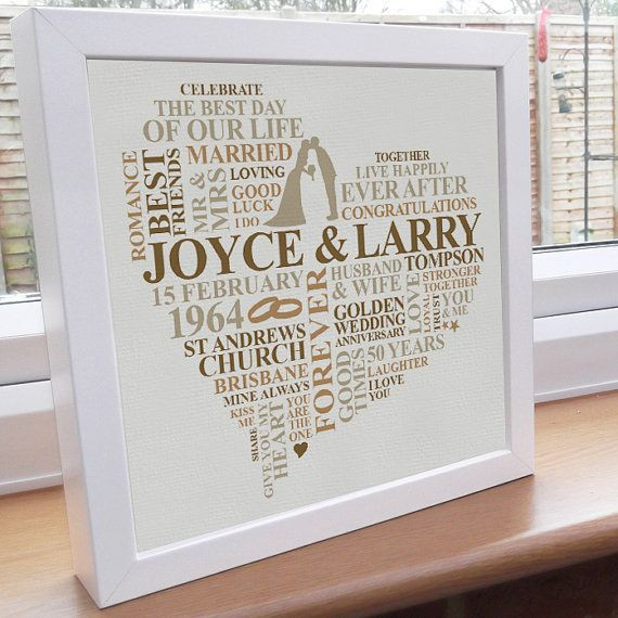 Best ideas about Golden Wedding Anniversary Gift Ideas For Parents . Save or Pin The 25 best 50th anniversary ts ideas on Pinterest Now.