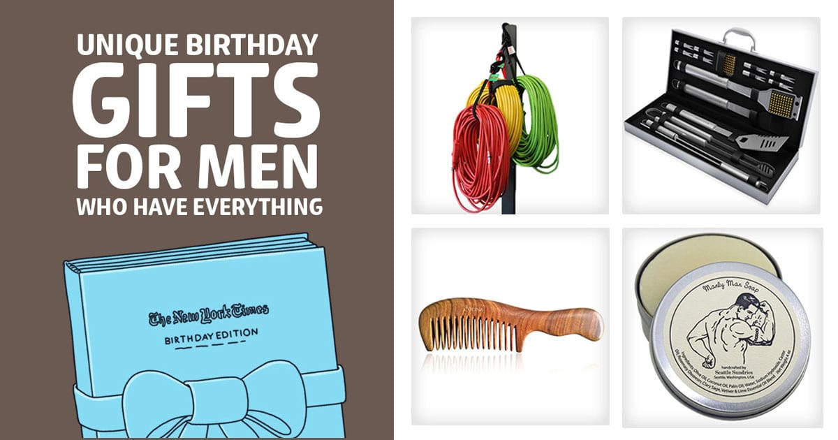 Best ideas about Good Birthday Gifts For Guys . Save or Pin 49 Unique Birthday Gifts for Men Who Have Everything Now.