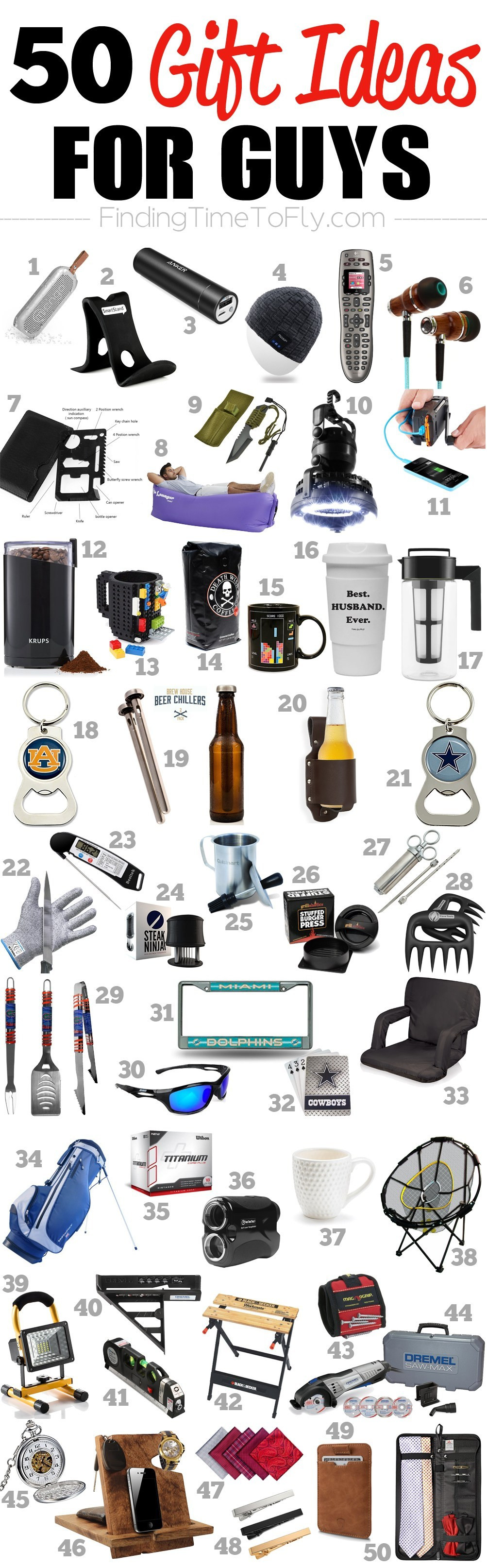 Best ideas about Good Birthday Gifts For Guys . Save or Pin 50 Gifts for Guys for Every Occasion Finding Time To Fly Now.