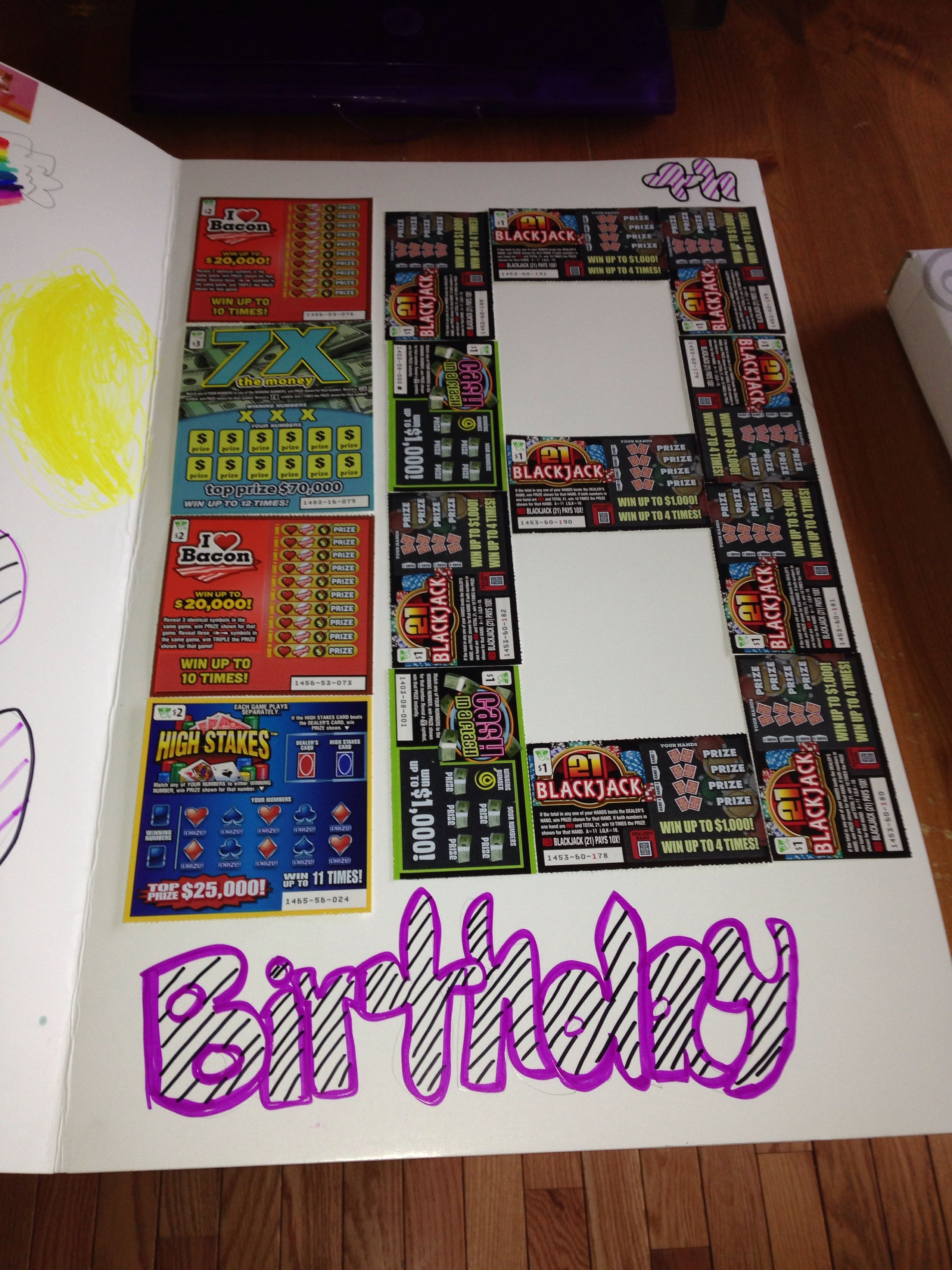 Best ideas about Good Birthday Ideas . Save or Pin Scratch f lottery tickets Great 18th birthday idea Now.
