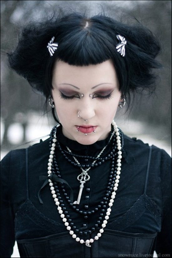 Best ideas about Goth Hairstyles For Girls . Save or Pin Stylish Gothic Piercings Now.