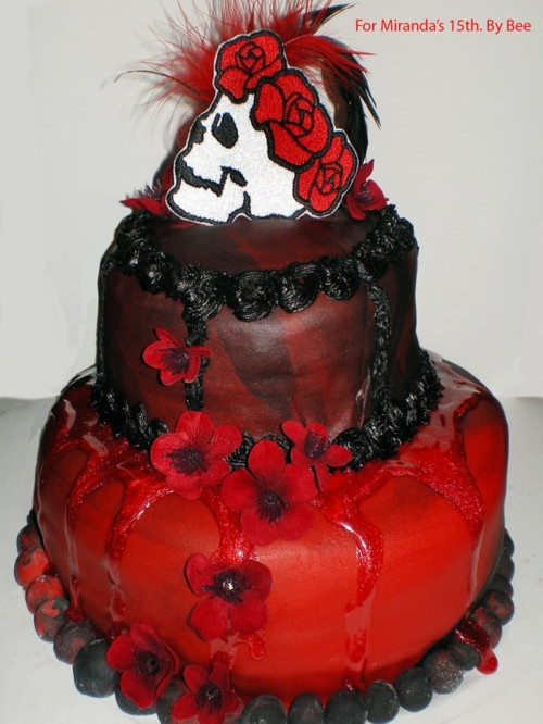 Best ideas about Gothic Birthday Cake . Save or Pin Amazing Cakes Gothic Red and Black cakes requested by Now.