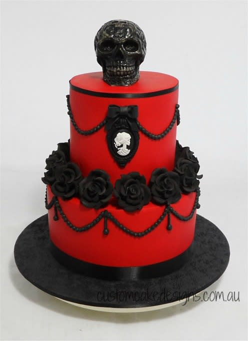 Best ideas about Gothic Birthday Cake . Save or Pin Gothic Birthday Cake cake by Custom Cake Designs Now.