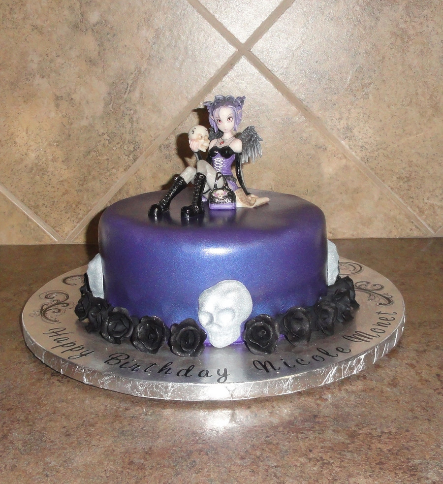 Best ideas about Gothic Birthday Cake . Save or Pin Gothic Fairy Birthday Cake CakeCentral Now.