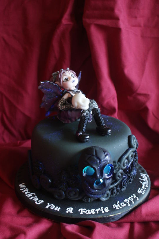 Best ideas about Gothic Birthday Cake . Save or Pin Goth Faerie Birthday cake Cake by TipsyTruffles CakesDecor Now.