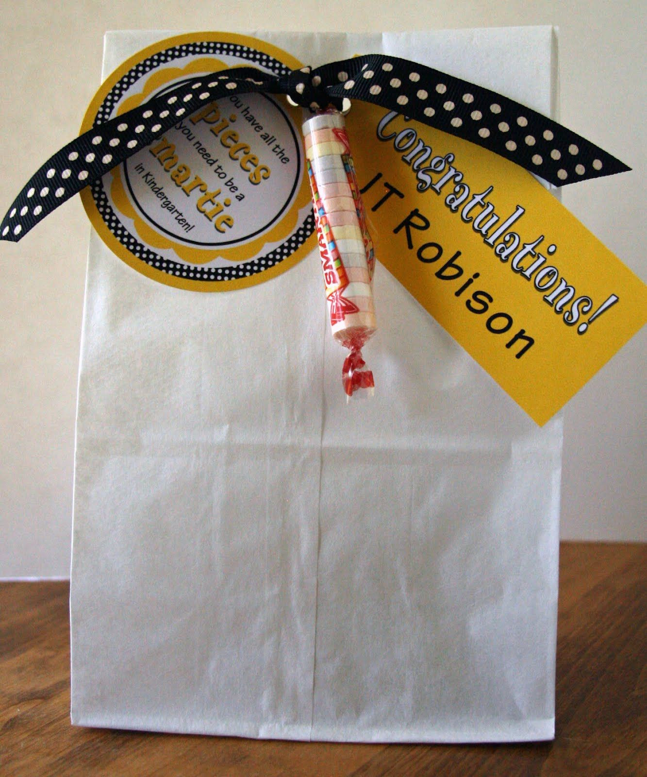 Best ideas about Graduation Gift Bag Ideas . Save or Pin Fun graduation t bag idea for little graduates Now.
