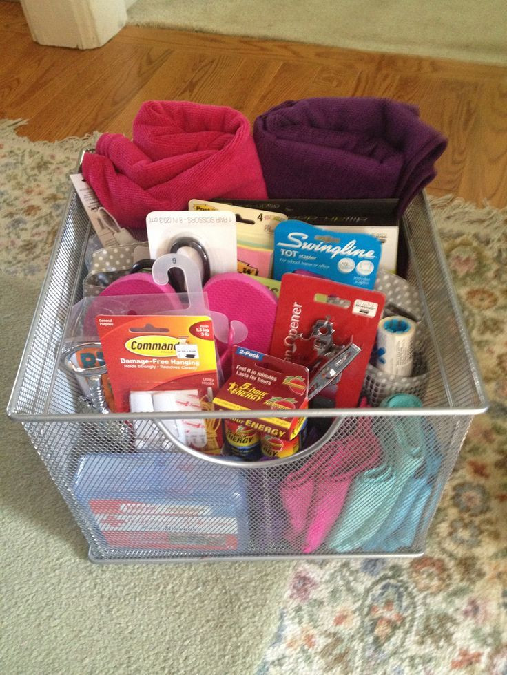 Best ideas about Graduation Gift Ideas For Sister . Save or Pin DIY Gift Basket for College Girls Now.
