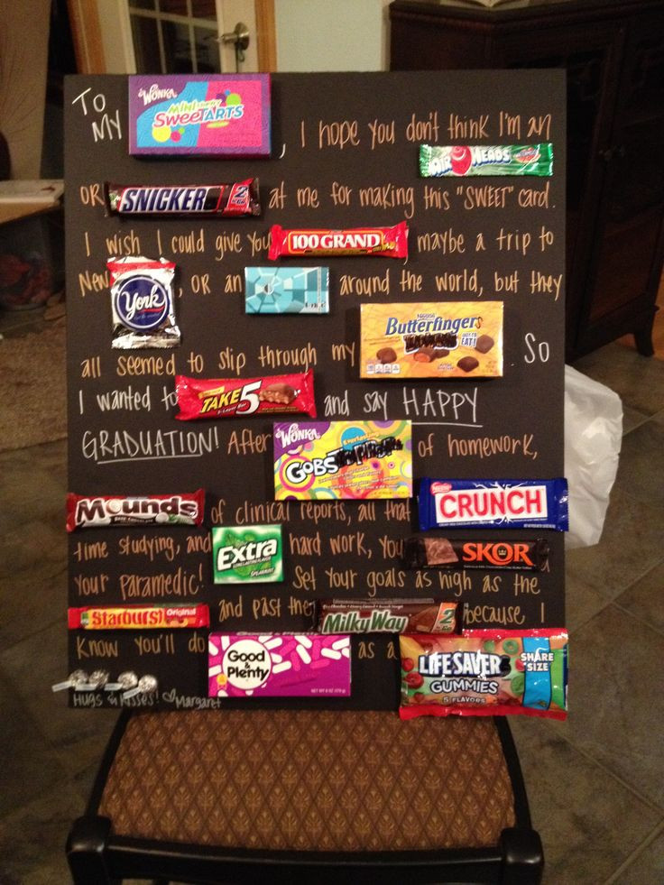 Best ideas about Graduation Gift Ideas For Sister . Save or Pin Best 25 Candy cards ideas on Pinterest Now.