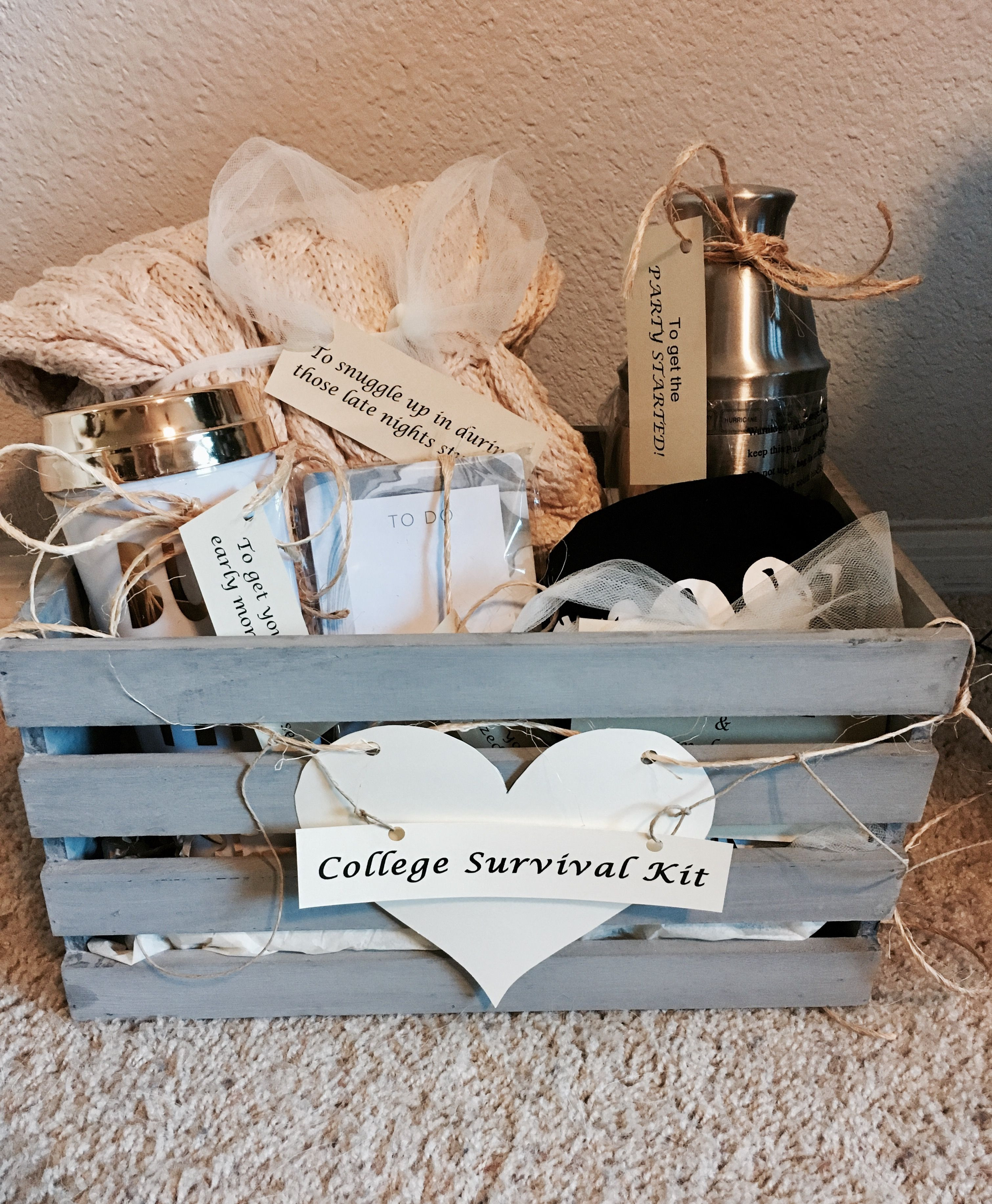 """Best ideas about Graduation Gift Ideas For Sister . Save or Pin """"College Survival Kit"""" High School graduation t for my Now."""