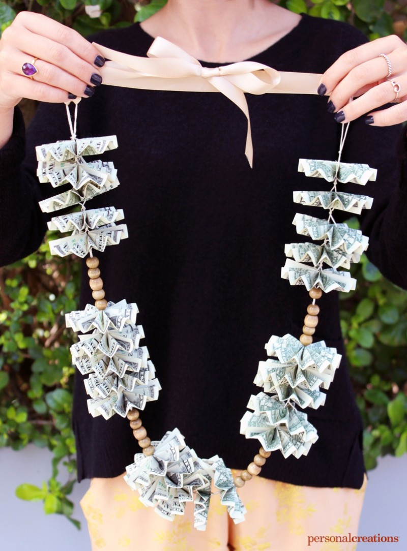 Best ideas about Graduation Leis DIY . Save or Pin DIY Money Lei for Grads Personal Creations Blog Now.