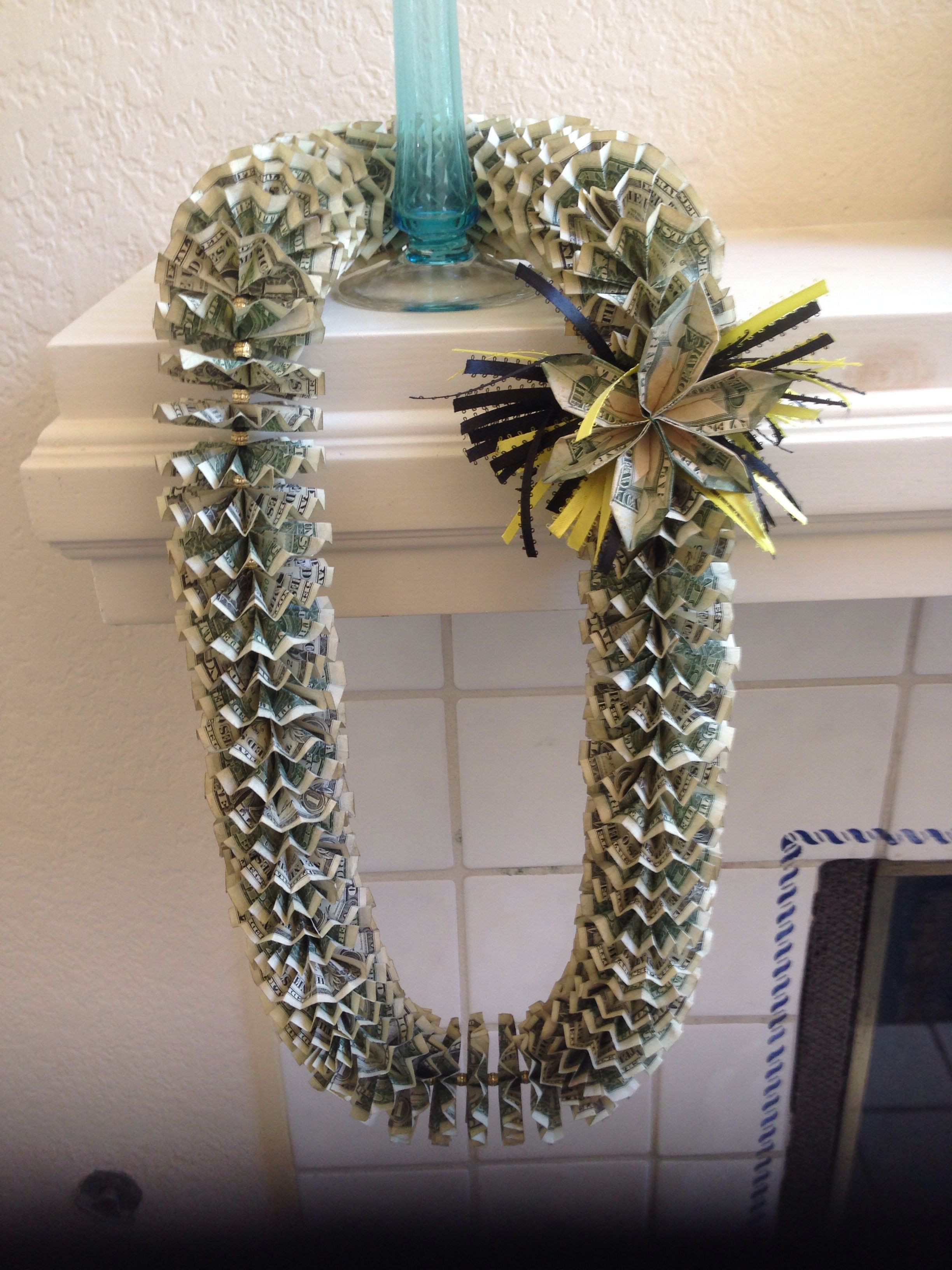 Best ideas about Graduation Leis DIY . Save or Pin Graduation Money Lei Gifts Now.