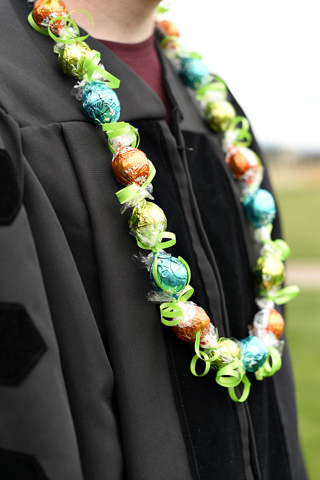 Best ideas about Graduation Leis DIY . Save or Pin Chocolate DIY Graduation Lei – Fun Squared Now.