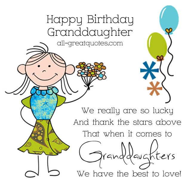 Best ideas about Granddaughter Birthday Quotes . Save or Pin Happy Birthday Granddaughter Quotes QuotesGram Now.
