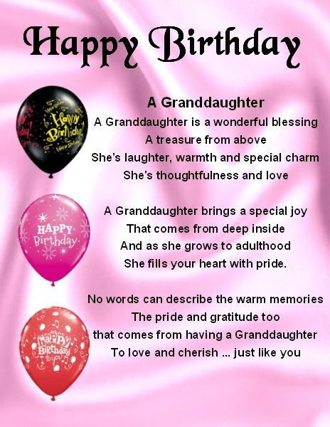 Best ideas about Granddaughter Birthday Quotes . Save or Pin Fridge Magnet Personalised Granddaughter Poem Happy Now.