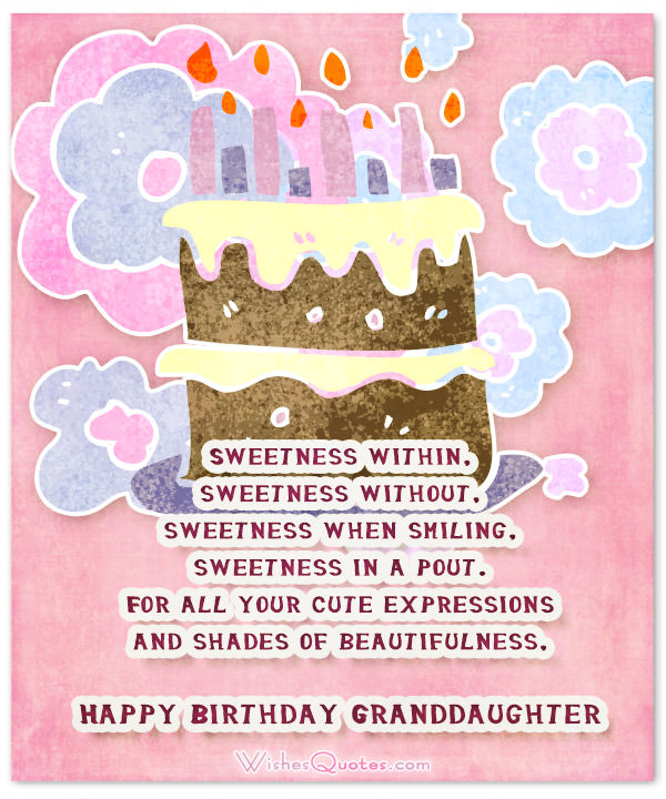 Best ideas about Granddaughter Birthday Quotes . Save or Pin Sweet Birthday Wishes for Granddaughter – WishesQuotes Now.