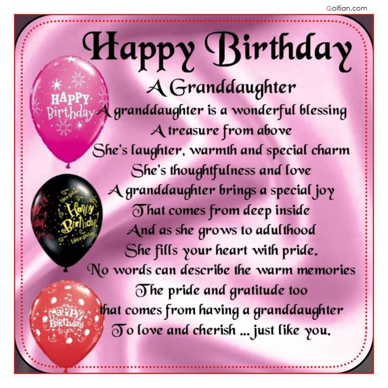 Best ideas about Granddaughter Birthday Quotes . Save or Pin 65 Popular Birthday Wishes For Granddaughter – Beautiful Now.