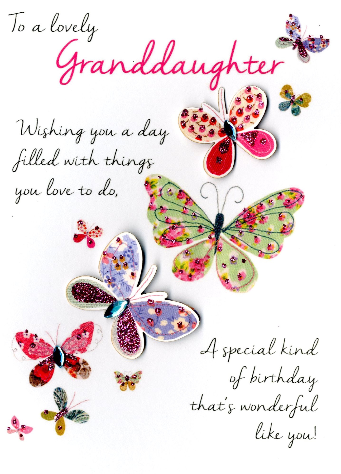Best ideas about Granddaughter Birthday Wishes . Save or Pin Lovely Granddaughter Birthday Greeting Card Second Nature Now.
