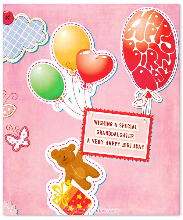 Best ideas about Granddaughter Birthday Wishes . Save or Pin Sweet Birthday Wishes for Granddaughter – WishesQuotes Now.