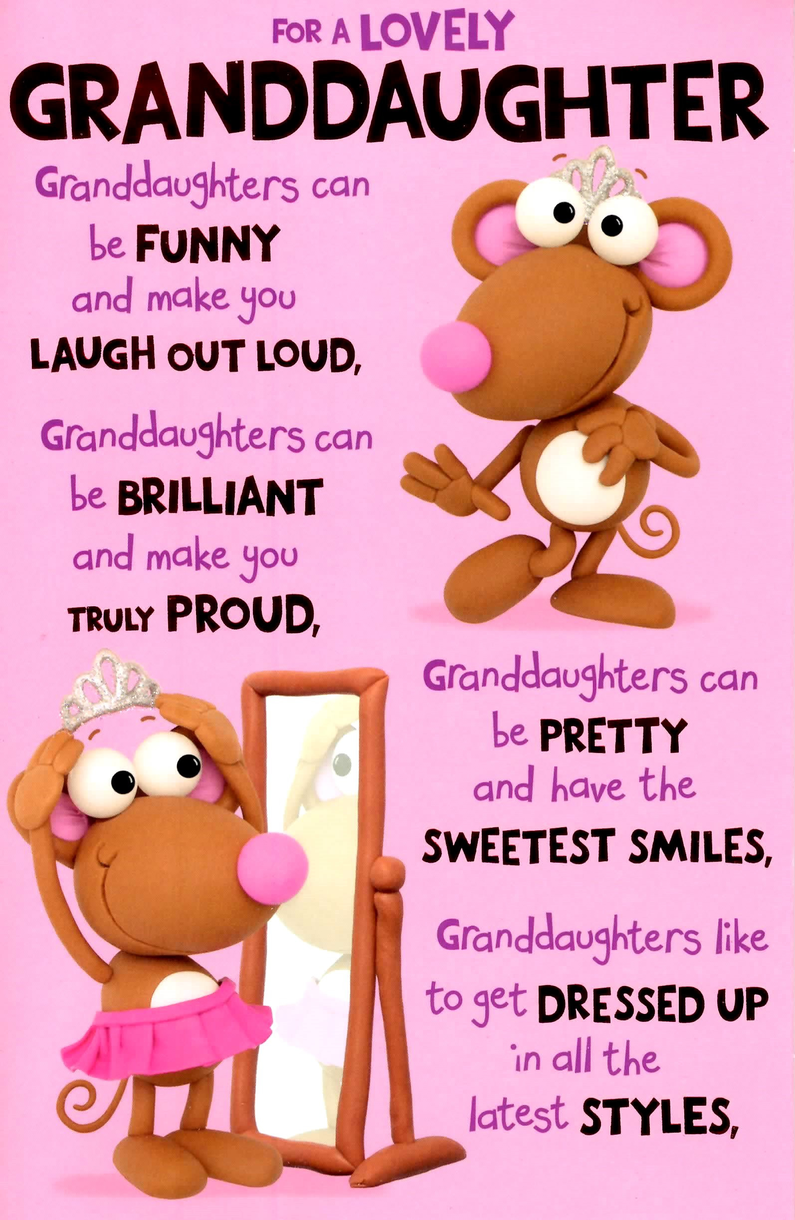 Best ideas about Granddaughter Birthday Wishes . Save or Pin Cute Wonderful Granddaughter Birthday Greeting Card Now.