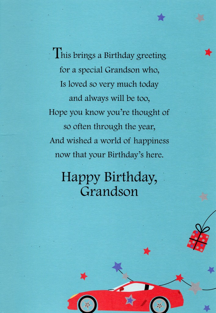Best ideas about Grandson Birthday Quotes . Save or Pin Grandson Happy Birthday Greeting Card Lovely Greetings Now.