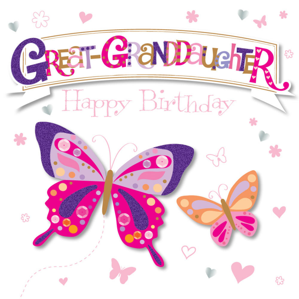 Best ideas about Great Birthday Wishes . Save or Pin Great Granddaughter Happy Birthday Greeting Card Now.