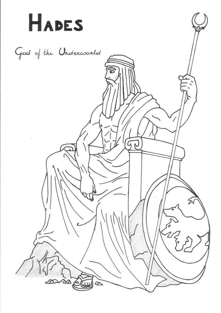 Best ideas about Greek Mythology Printable Coloring Pages Gods . Save or Pin Hades coloring page Greek God mythology Unit study by Now.