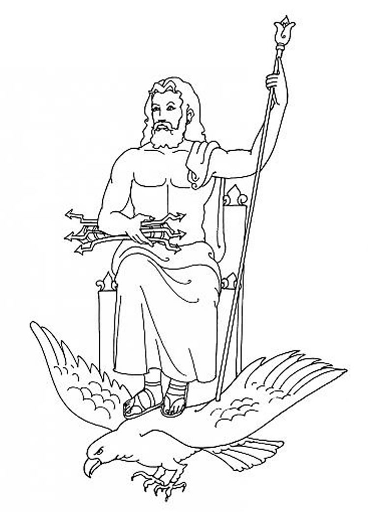 Best ideas about Greek Mythology Printable Coloring Pages Gods . Save or Pin God zeus coloring pages Hellokids Now.