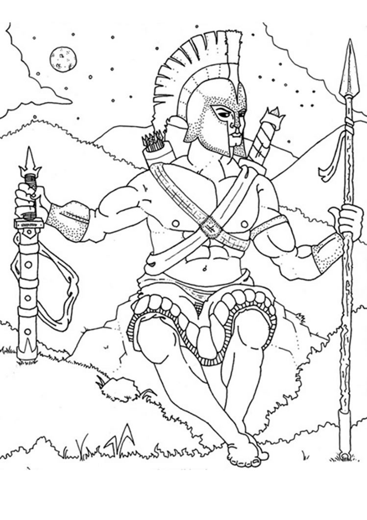 Best ideas about Greek Mythology Printable Coloring Pages Gods . Save or Pin God ares coloring pages Hellokids Now.