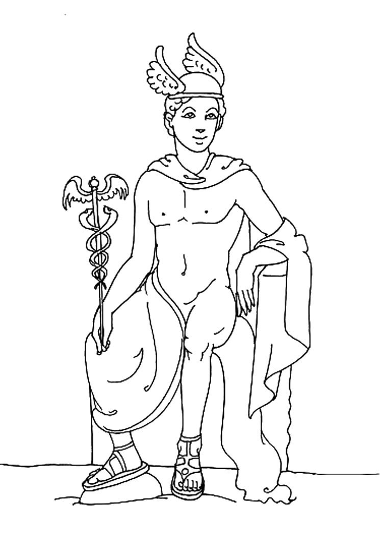 Best ideas about Greek Mythology Printable Coloring Pages Gods . Save or Pin God hermes coloring pages Hellokids Now.