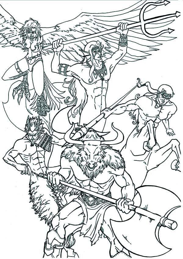 Best ideas about Greek Mythology Printable Coloring Pages Gods . Save or Pin Greek Mythology An Artistic Illustration of Greek Now.