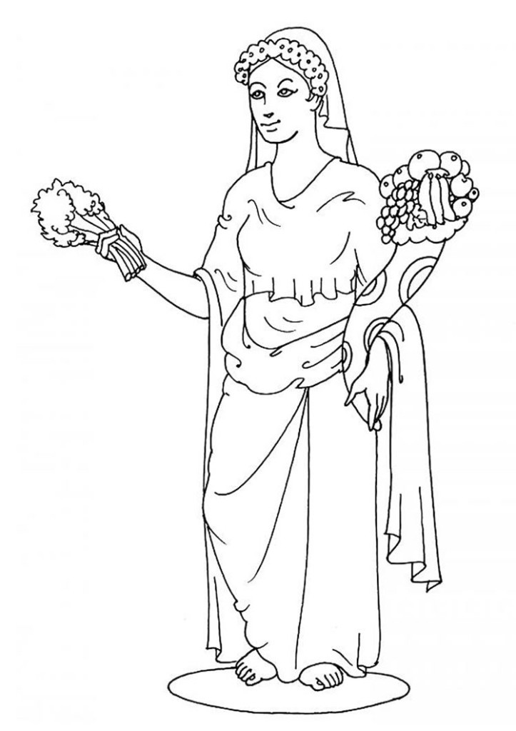 Best ideas about Greek Mythology Printable Coloring Pages Gods . Save or Pin Hestia Coloring Pages Now.
