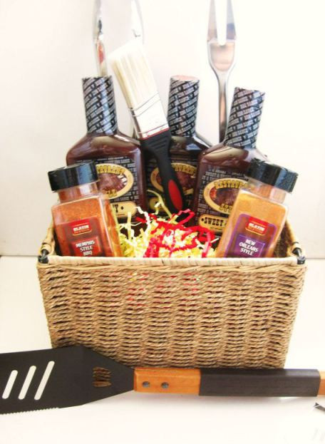 Best ideas about Grilling Gift Basket Ideas . Save or Pin 32 Homemade Gift Basket Ideas for Men Now.