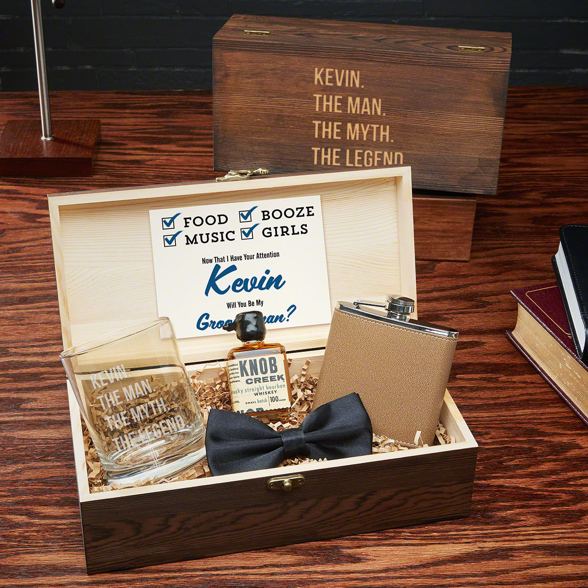 Best ideas about Groomsmen Gift Box Ideas . Save or Pin Man the Myth Personalized Groomsmen Gift Box Set Now.