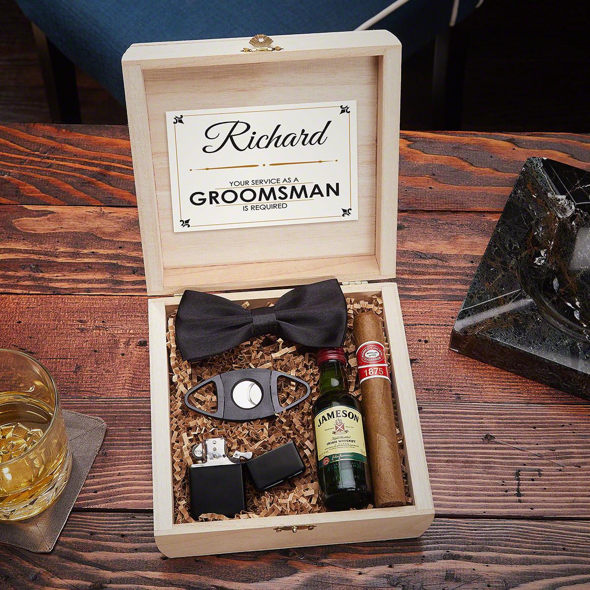 Best ideas about Groomsmen Gift Box Ideas . Save or Pin Drake Blackout Cigar Crate Groomsmen Gift Box Set Now.