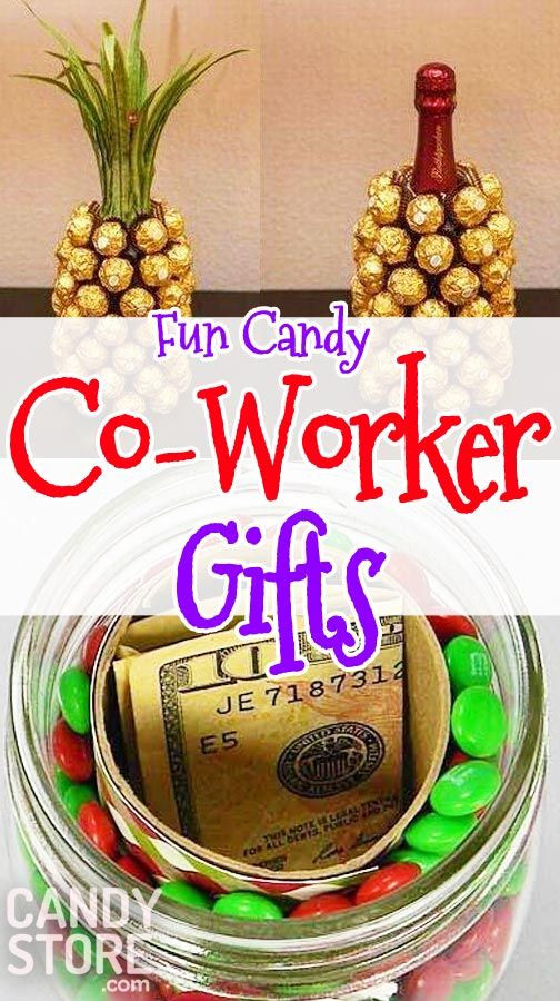 """Best ideas about Group Gift Ideas For Coworkers . Save or Pin 10 Co Workers Candy Christmas Gifts to Say """"Happy Holidays Now."""