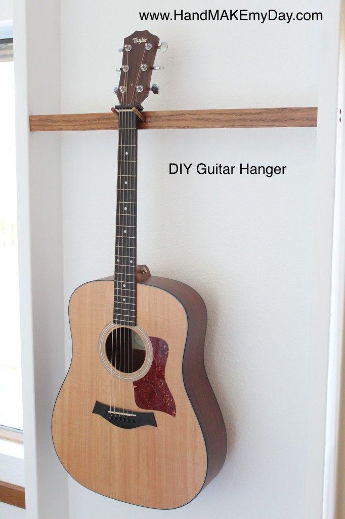 Best ideas about Guitar Wall Hanger DIY . Save or Pin My DIY Guitar Wall hanger Organize Stuff Now.