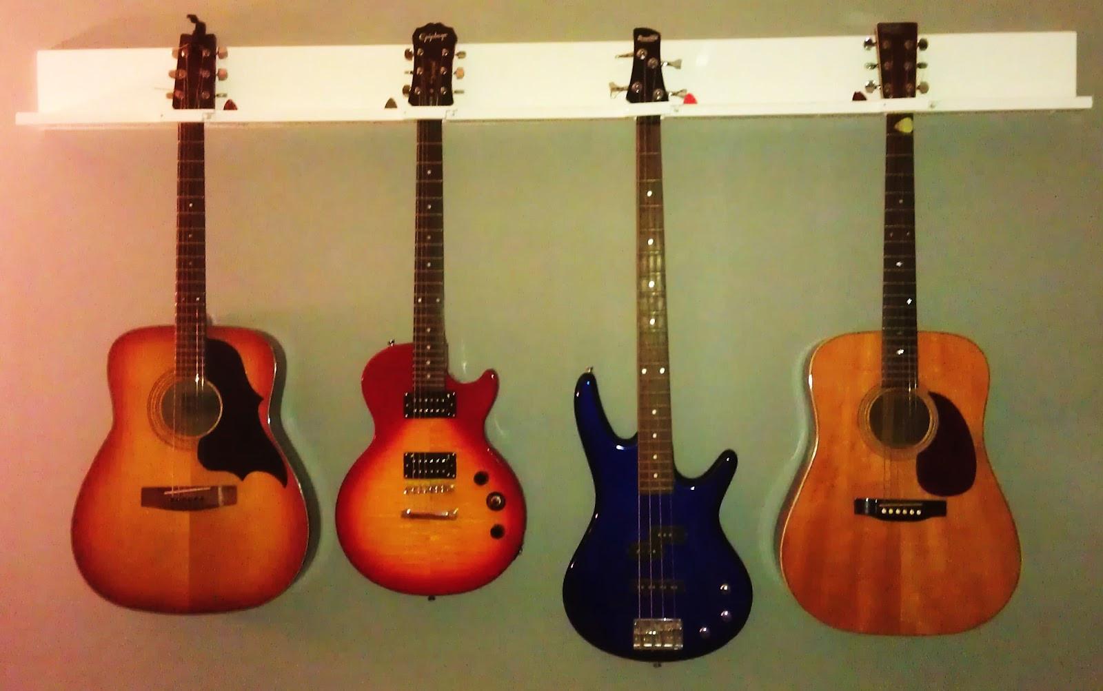 Best ideas about Guitar Wall Hanger DIY . Save or Pin DIY 4 Guitar Wall Hanger Cost $15ish FEATURED AS AN Now.