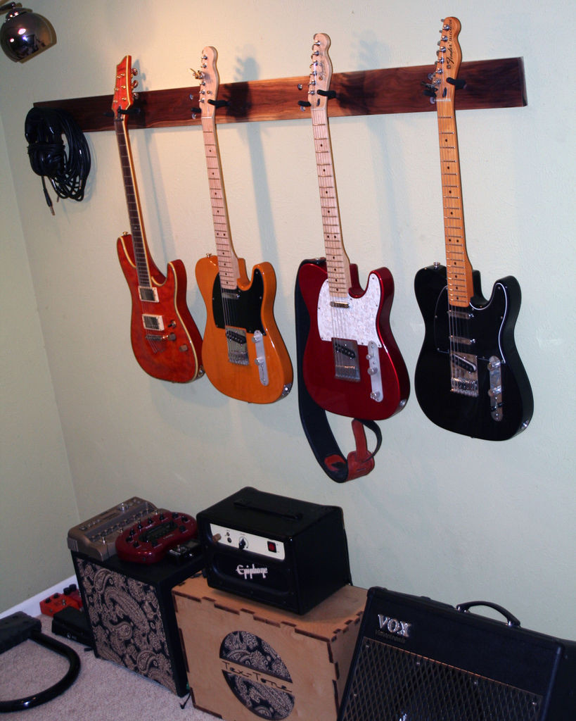 Best ideas about Guitar Wall Hanger DIY . Save or Pin Guitar wall hanger Now.