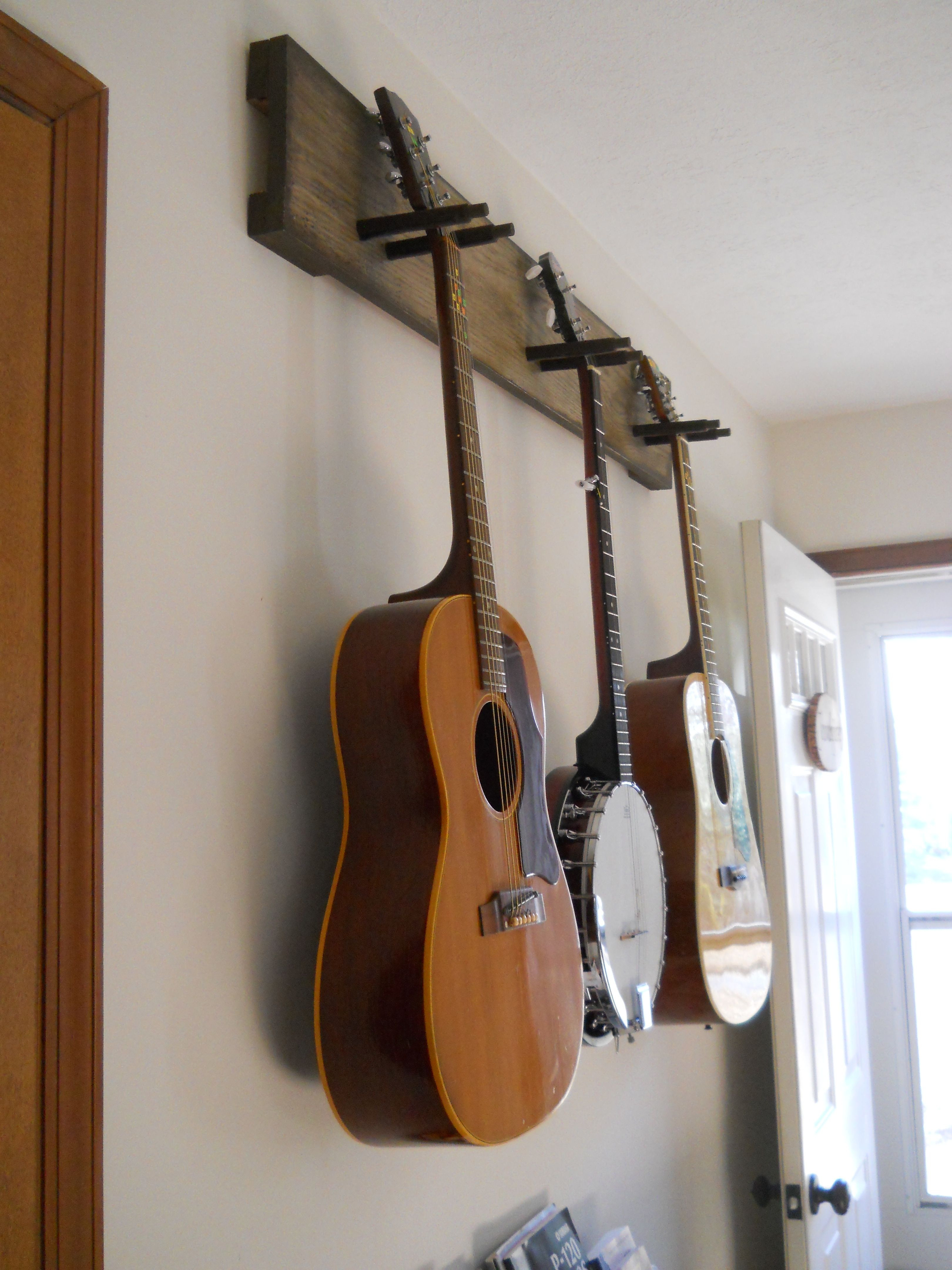 Best ideas about Guitar Wall Hanger DIY . Save or Pin DIY guitar hanger simple & secure We practice so much Now.